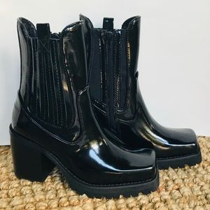 NEW Jeffrey Campbell Elkins Chelsea Black Boot 6